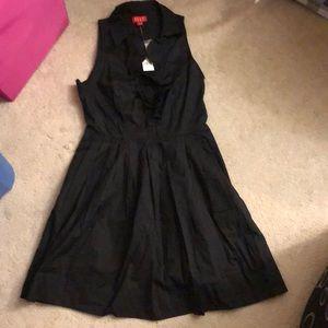 Black ruffle detail dress - Elle